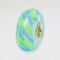 Light Blue Braid Bead With A Twist