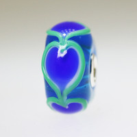 Winter Heart Bead With A Twist:10