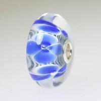 Blue Flower Unique Jumbo Bead