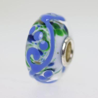 Blue Ornament Bead