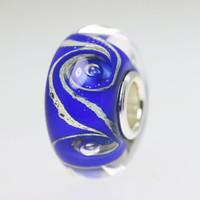 Blue Swirl bead