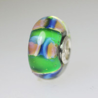 Green Abstract Unique Bead