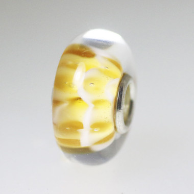 Small Yellow Unique Bead