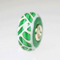 Green Opaque Unique Bead