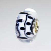 Black and White Unique Bead