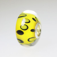 Yellow Spotted Unique Bead