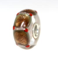 Gold Glitter Magic Carpet Unique Trollbeads