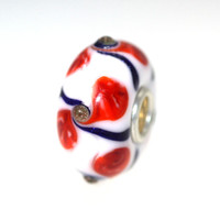 Trollbeads White Based Unique Bead