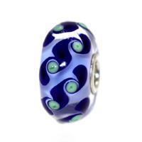 Blue Bead With Dark Blue Details
