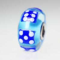 Blue Dice Bead