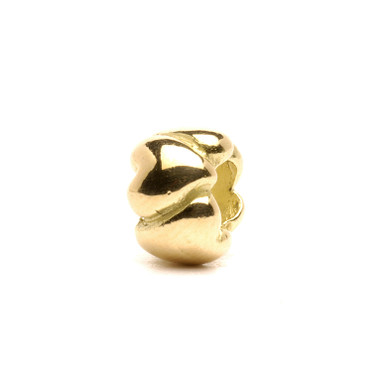 Hearts Bead, Small in Gold Trollbeads
