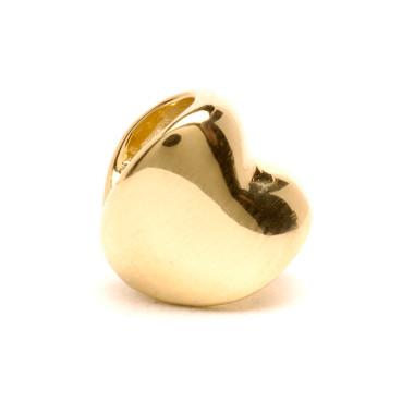 Heart Bead, 18K Gold Trollbeads