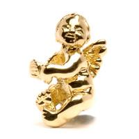 Cherub Bead, Gold Trollbeads