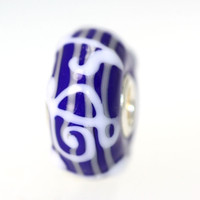 Blue and White Unique Bead