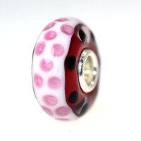 Pink Polka Dot Unique Bead