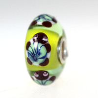 Light Green Bead With Turtles