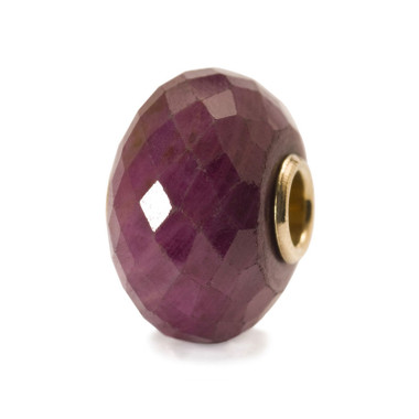Ruby Bead with Gold Core Trollbeads