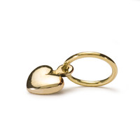 Mini Heart Gold Trollbeads