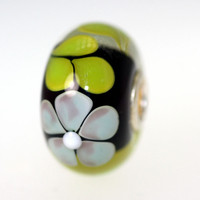 Black and Green Unique Bead.