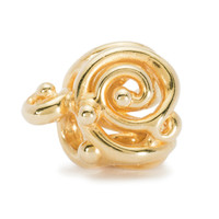 Ornamental Bead, 18K Gold Trollbeads