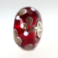 Red Bead With Glitter Sprigs