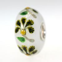Flower Bead On White Bead