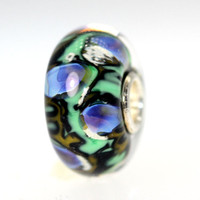 Abstract Bead With Green and Blue