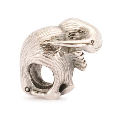 Sterling silver Kiwi Bird Trollbeads.