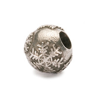 Trollbeads retired Snowball sterling bead.