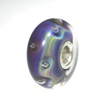 Azure Bubbles Trollbeads Glass bead