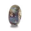 Azure Bubbles Glass Trollbeads