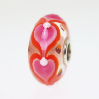 Pink Heart Bead