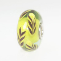 Yellow Feather Bead