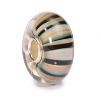 Khaki Stripes Glass Trollbeads