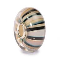 Khaki Stripes Glass Trollbeads