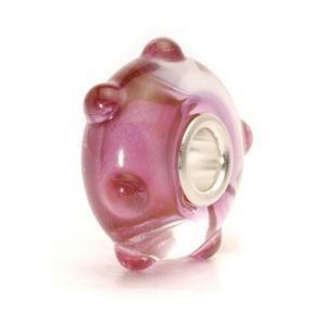 Pink Bud glass Trollbeads, retired