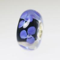 Violet Blue Flower Unique Bead