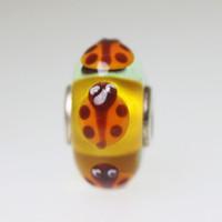 Orange Based Bee Unique Bead