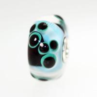 Aqua Pawprints Bead