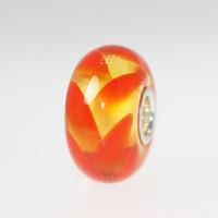 Orange Braid Unique Bead
