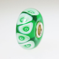 Rich Green Bubble Bead