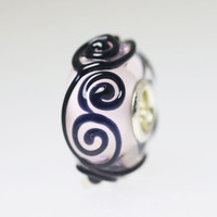 Black Ornament Design Bead