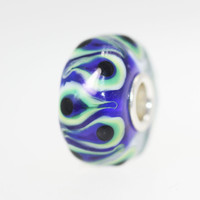 Blue and Green Unique Bead