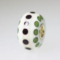 Ivory Opaque Polka Dot Bead