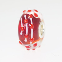 Dark Red Unique Bead