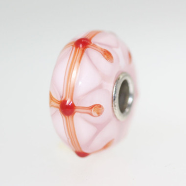 Pink Stained Glass Unique Bead