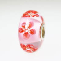 Pink Unique Flower Bead