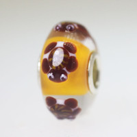 Turtle Bead On Orange