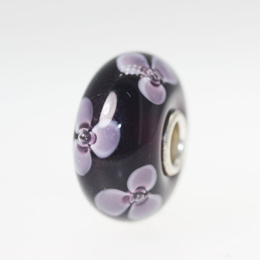 Purple Flower Unique Bead