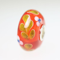 Red Orange Vine Bead